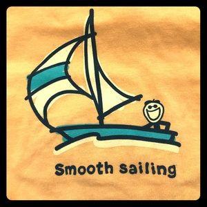 NWT Life is Good Smooth Sailing T Size Medium